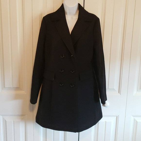 d2f6d2cc628 Haute Edition women s double-breasted peacoat